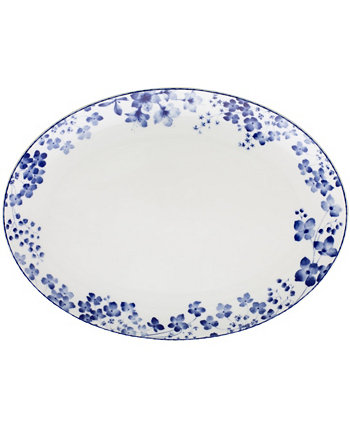 "Bloomington Road Oval Platter, 14"" Noritake"
