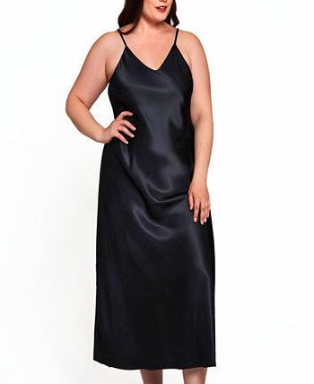 Women's Plus Size Luxury Long Gown with Deep V Back ICollection