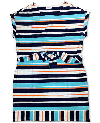 Petite Striped Stretch Shift Dress, Created for Macy's Charter Club