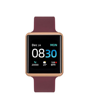 Women's Air 3 Merlot Silicone Strap Touchscreen Smart Watch 40mm ITouch