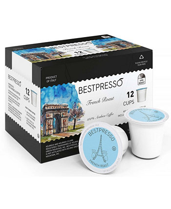 Coffee French Flavor Single Serve K-Cup, 96 Pods per Pack Bestpresso