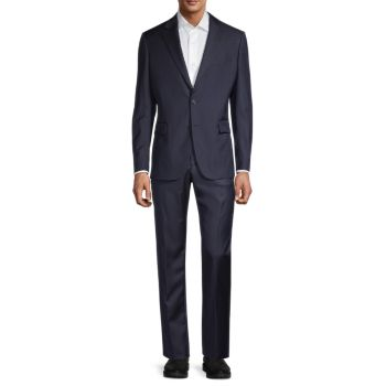 Modern-Fit Wool Suit Versace Collection