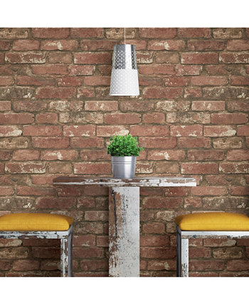West End Brick Peel And Stick Wallpaper Brewster Home Fashions