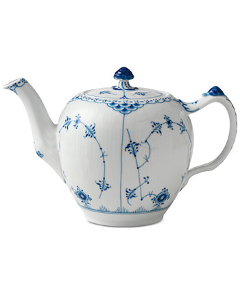 Blue Fluted Half Lace Teapot Royal Copenhagen