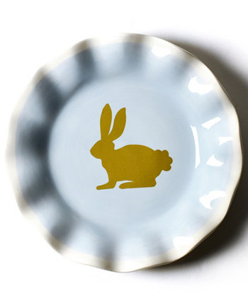 by Laura Johnson Smoke Rabbit Salad Plate Coton Colors