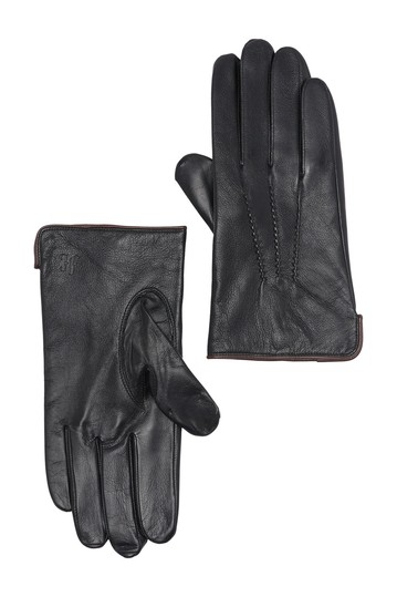 Napa Leather Stitched Detail Gloves Hickey Freeman
