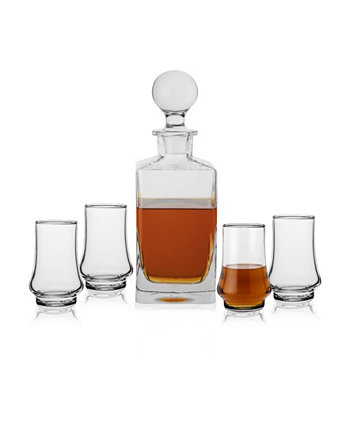 Personalized Classic 5 Piece Whiskey Decanter Set Cathy's Concepts