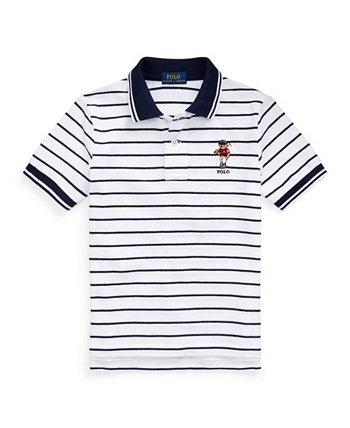 Toddler Boys Polo Bear Striped Cotton Mesh Polo Shirt Ralph Lauren
