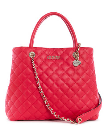 Illy Quilted Society Satchel GUESS
