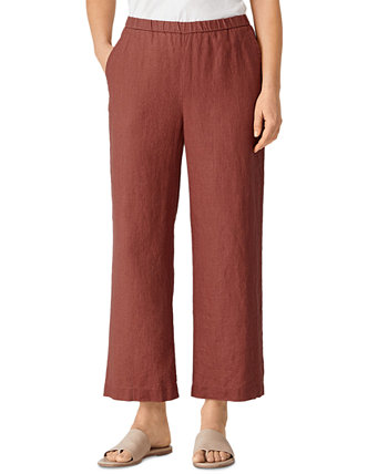 Organic Linen Pull-On Pants Eileen Fisher