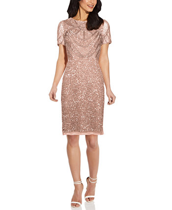 Embellished Sheath Dress Adrianna Papell