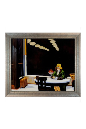 """Automat Framed Hand Painted Oil on Canvas - 29"""" x 25"""" No brands"""