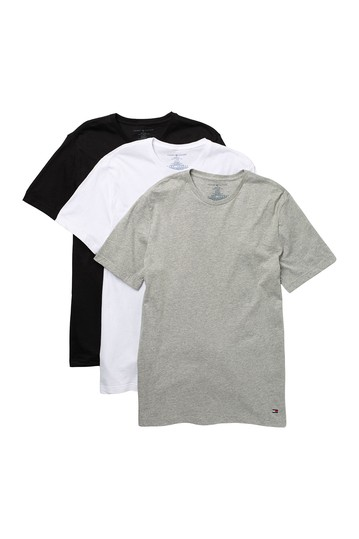 Classic Cotton Crew Neck T-Shirt - Pack of 3 Tommy Hilfiger