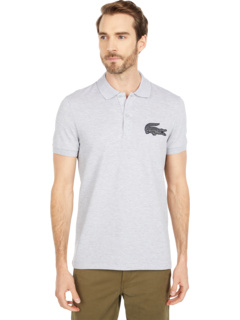 Short Sleeve Solid with Large Croc Lacoste