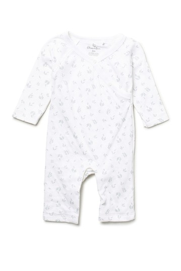White Floral Print Pointelle Coverall (Baby Girls) Oliver and Rain