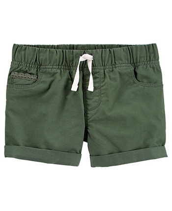 Little Girls Pull-On Twill Shorts Carters