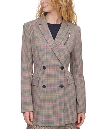 Printed Double-Breasted Blazer DKNY
