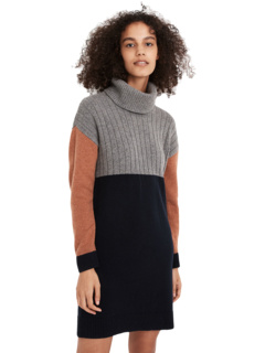 Turtleneck Sweaterdress in Color-Block Madewell