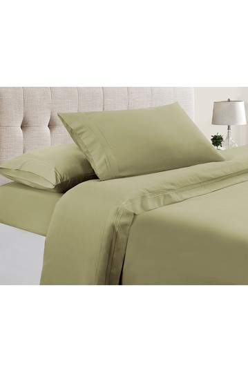 Manor Ridge Luxury 100 GSM Brushed Microfiber Extra Soft Hypoallergenic 3-Piece Double Marrow Hem Sheet Set, Sage - Twin Modern Threads