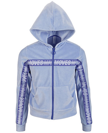 Big Girls Velour Taped Zip-Up Hoodie, Created for Macy's Ideology