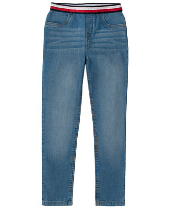 Toddler Girls Jegging with Jacquard Waistband Tommy Hilfiger