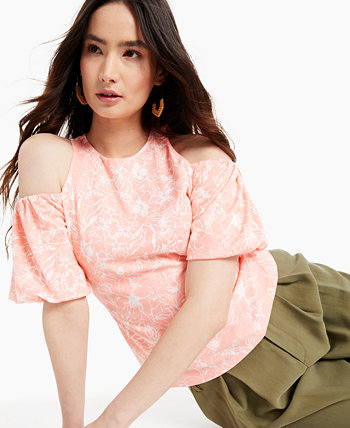 INC Printed Cold-Shoulder Top, Created for Macy's INC International Concepts