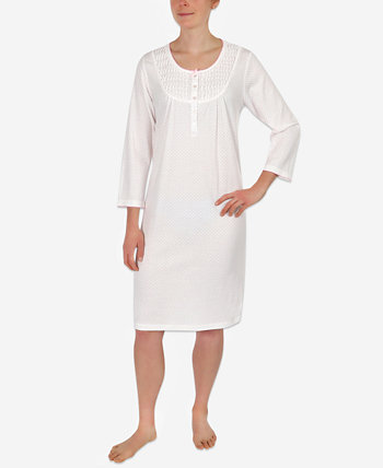 Dot-Print Knit Nightgown Miss Elaine