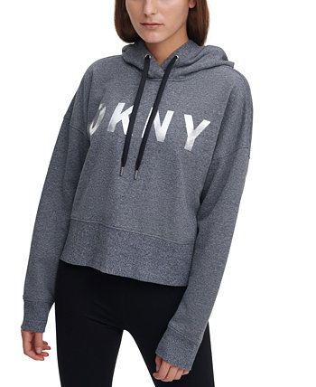 Sport Logo Cropped Hoodie, Created for Macy's DKNY