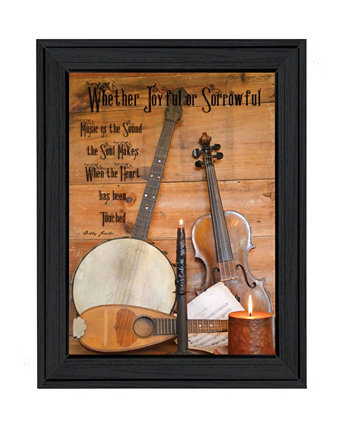 "Music By Billy Jacobs, Printed Wall Art, Ready to hang, Black Frame, 21"" x 15"" Trendy Décor 4U"
