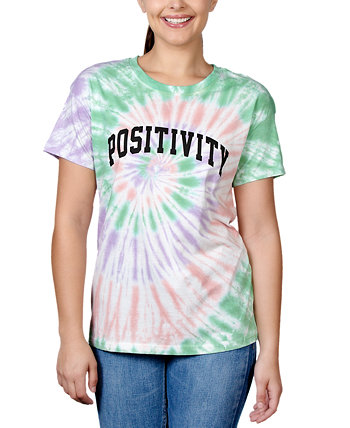 Juniors' Graphic Tie-Dyed T-Shirt Rebellious One