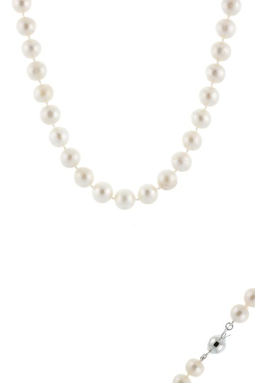 Sterling Silver 9-10mm Cultured Freshwater Pearl Necklace Splendid Pearls