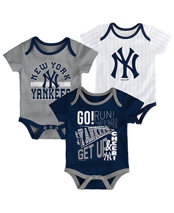 Baby New York Yankees Newest Rookie 3 Piece Bodysuit Set Outerstuff