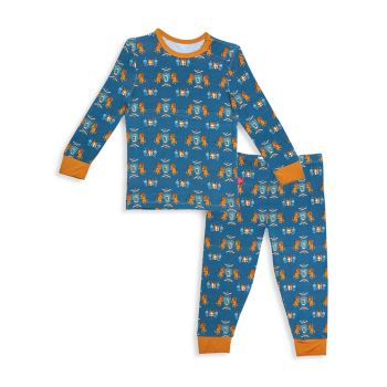 Little Boy's Knighty Night 2-Piece Pajamas Set MAGNETIC ME