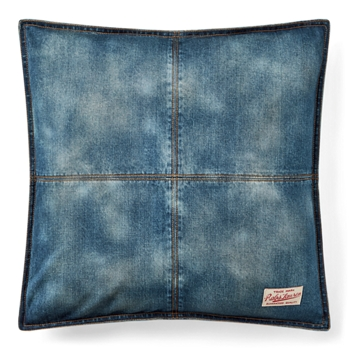 "Eckley Denim Throw Pillow  20"" Ralph Lauren"