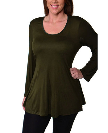 Women's Plus Size Poised Swing Tunic Top 24seven Comfort Apparel