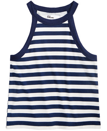 Big Girls Striped Hi-Neck Tank Epic Threads