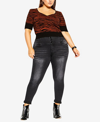 Plus Size Wild At Heart Jumper City Chic