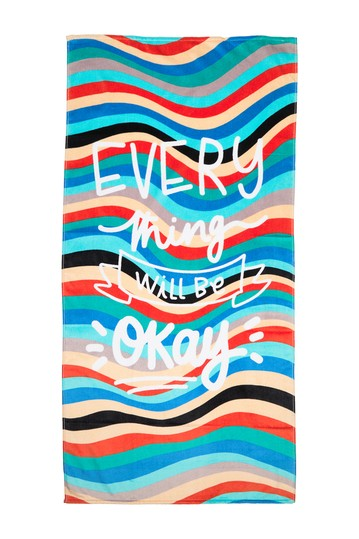 Everything Is Going To Be Okay Beach Towel Apollo Towels