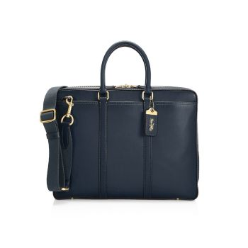 Кожаная сумка New Metropolitan Slim Brief COACH