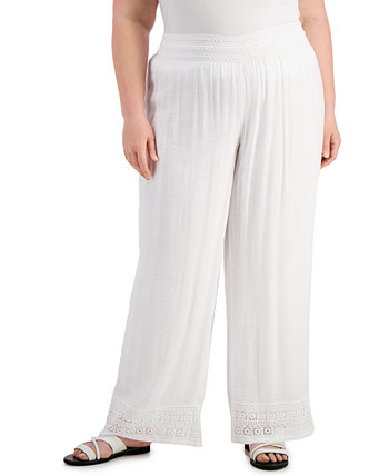 Plus Size Gauze Pants, Created for Macy's J&M Collection