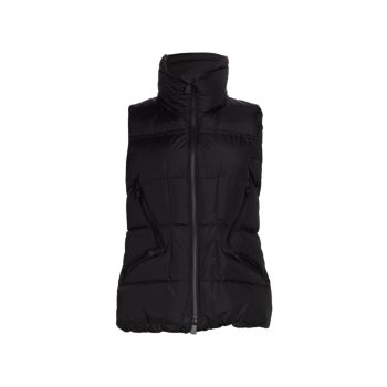 Atka Quilted Down Fitted Vest Moncler Grenoble