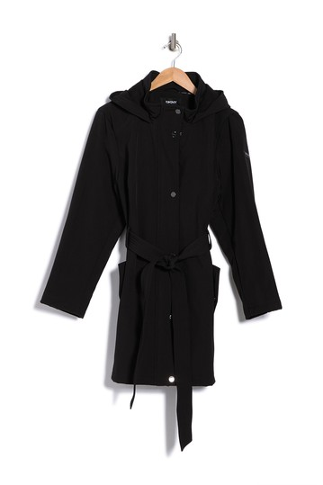 Soft Shell Belted & Hooded Jacket (Plus Size) DKNY
