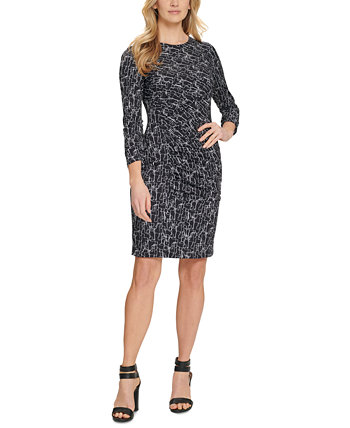 Printed Ruched Dress DKNY
