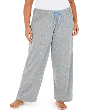 Plus Size Scribble Pajama Pants HUE