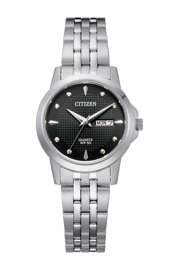 Women's Quartz Stainless Steel Bracelet Watch, 27mm Citizen