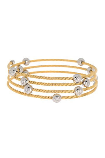 Yellow Stainless Steel Cascade Chain Bangle Bracelet ALOR