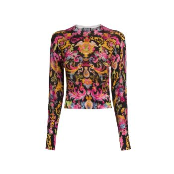 Lady Cropped Knit Sweater Versace Jeans Couture