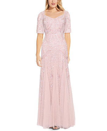 Embellished Godet Gown Adrianna Papell