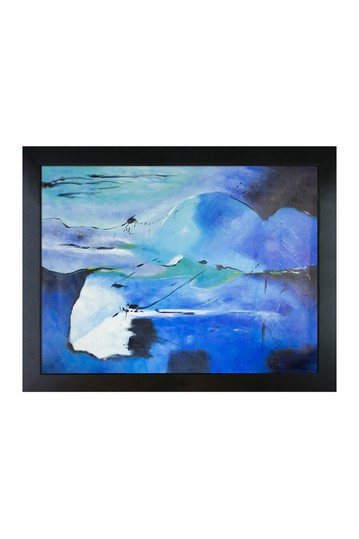 """Abstract 181113 Reproduction with New Age Black Frame , 34.75"""" x 44.75"""" No brands"""