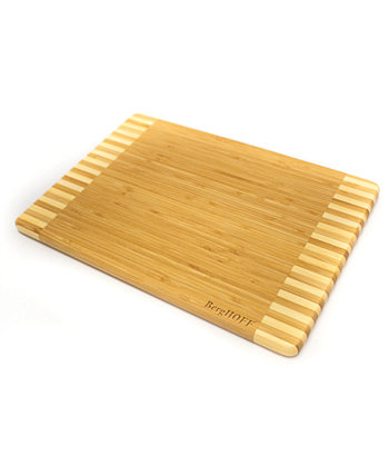 Bamboo Rectangular Cutting Board, Two-Tone Stripe BergHOFF